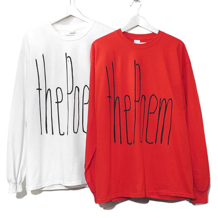"""画像3: the poem clothing store """"NEW LOGO L/S Tee"""" RED size L, XL, 2XL, 3XL"""