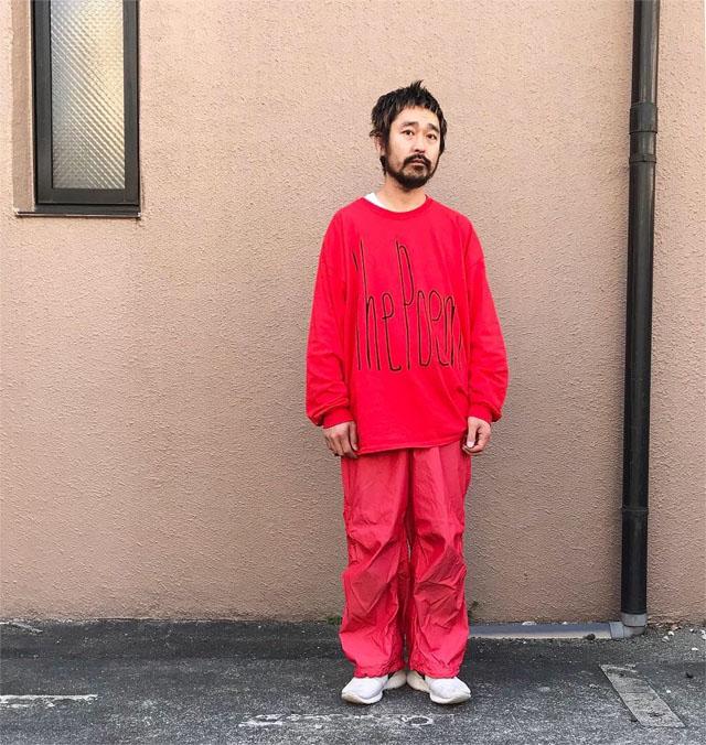 """画像5: the poem clothing store """"NEW LOGO L/S Tee"""" RED size L, XL, 2XL, 3XL"""