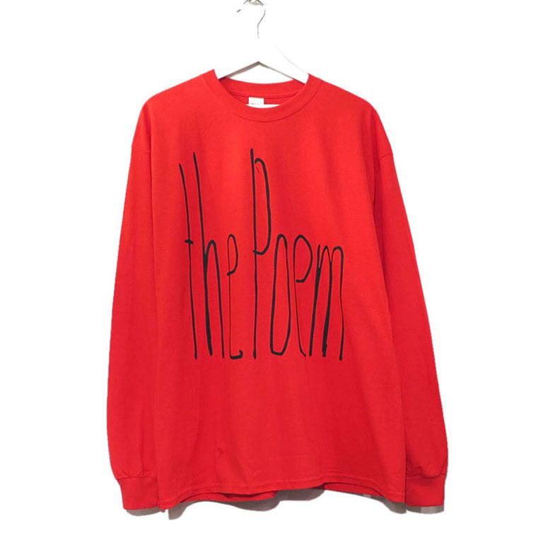 """画像2: the poem clothing store """"NEW LOGO L/S Tee"""" RED size L, XL, 2XL, 3XL"""