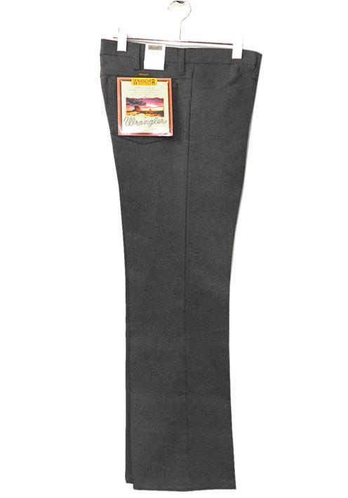 """画像1: Wrangler """"WRANCHER DRESS JEANS""""  Boot Cut Pants HEATHER BLACK"""