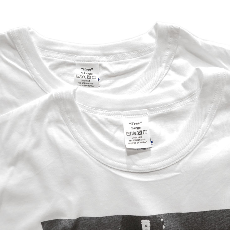 """画像5: Riprap """"FREE"""" Tee color : WHITE size LARGE"""