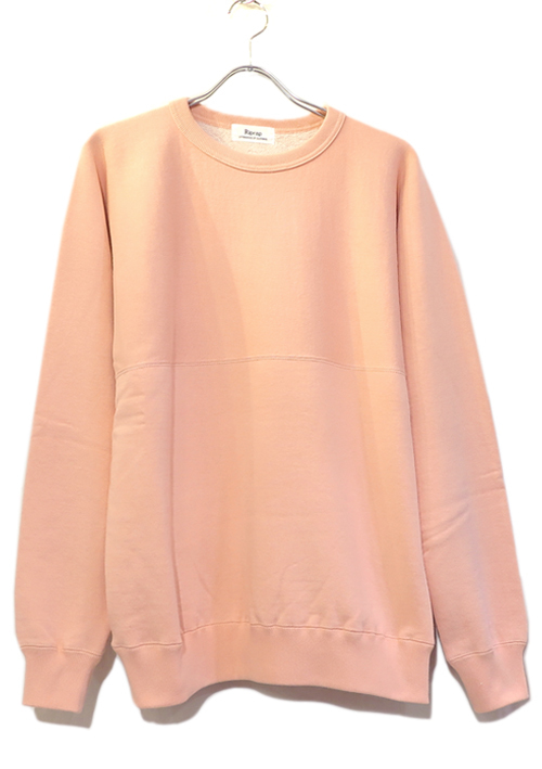 "画像1: Riprap -Super Soft Loopwheel- ""Harf-Reverse Crew Neck Sweat Shirt""  color : HANSON PINK size MEDIUM, LARGE"