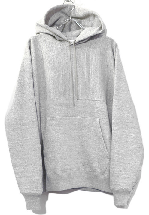 "画像1: Riprap -Super Soft Loopwheel- ""Harf-Reverse Sweat Hoodie""  color : HEATHER GRAY size MEDIUM, LARGE, X-LARGE (1)"