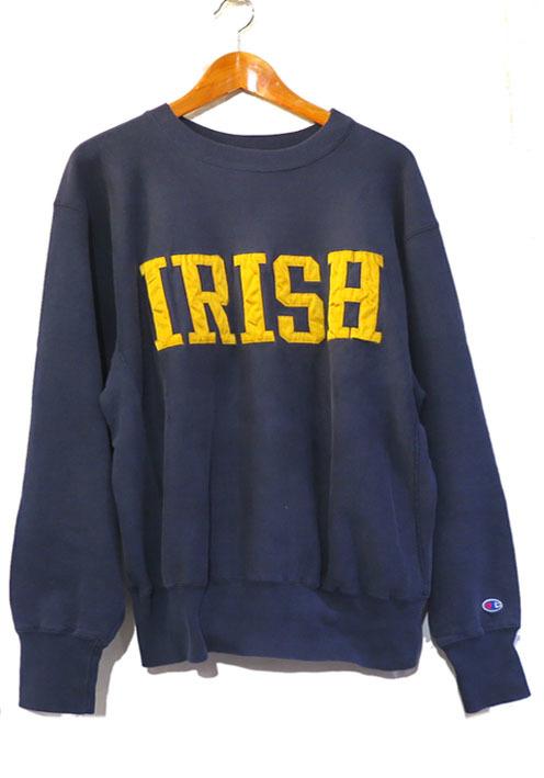 """画像1: 1990's Champion REVERSE WEAVE Sweat Shirt  """"IRISH"""" color : NAVY size 表記LARGE"""