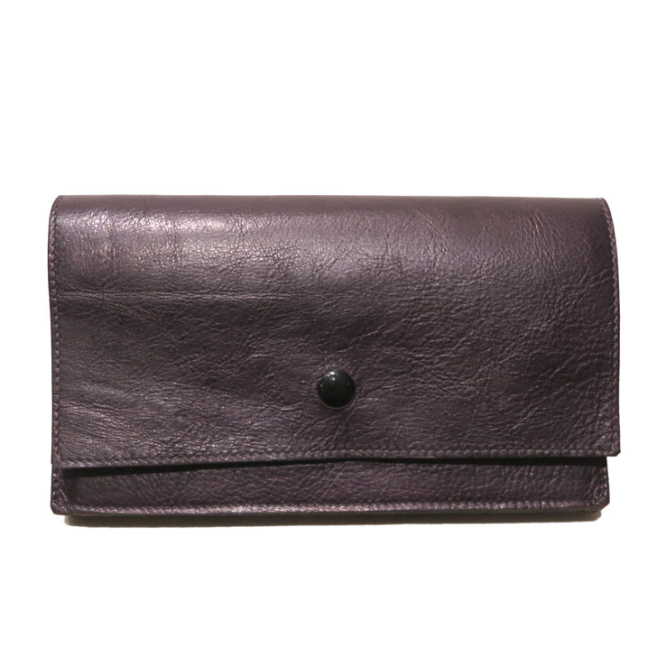 "画像1: ""JUTTA NEUMANN"" Leather Wallet ""Waiter's Wallet"" -長財布- color : Purple / Pink (1)"