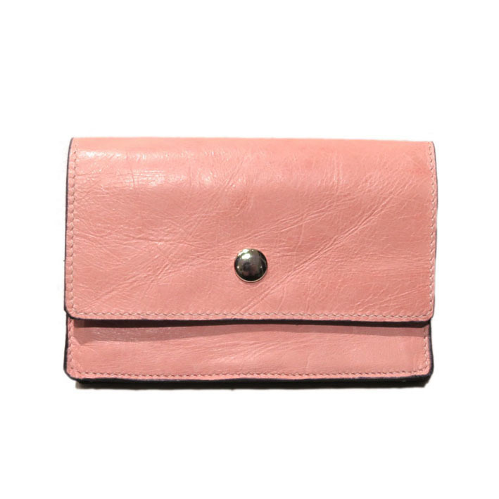 "画像1: ""JUTTA NEUMANN"" Leather Wallet ""Waiter's Wallet""  -MEDIUM SIZE- color : Coral / Pink"