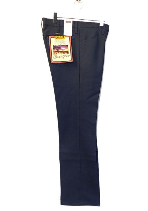 """画像1: Wrangler """"WRANCHER DRESS JEANS""""  Boot Cut Pants NAVY (1)"""