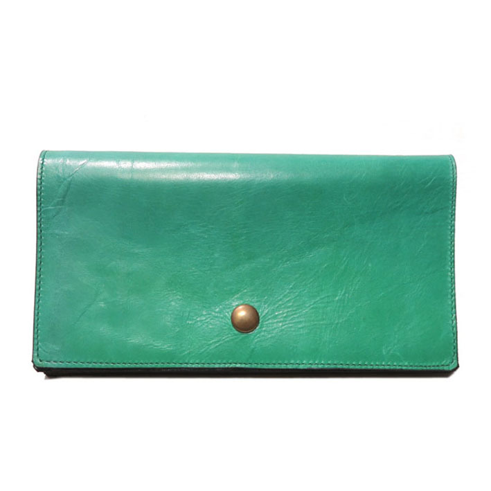 "画像1: ""JUTTA NEUMANN"" Leather Wallet ""Waiter's Wallet"" -長財布- color : Kelly Green / Yellow"