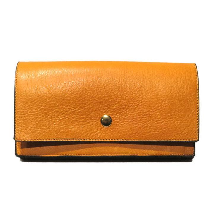 """画像1: """"JUTTA NEUMANN"""" Leather Wallet """"Waiter's Wallet"""" -長財布- color : Mustard / Smokey Green (1)"""
