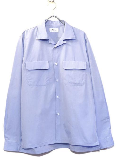 """画像1: Riprap """"Broad Cotton Semi Open Collar Shirt""""  color : SAX size MEDIUM, LARGE (1)"""