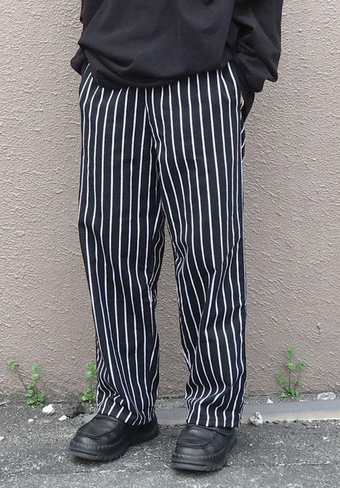 画像1:  US Poly-Cotton Cook Pants -CHALK STRIPE- size XS, S, M (1)