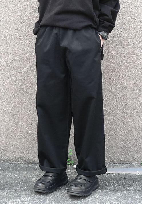 画像1:  US Poly-Cotton Cook Pants -BLACK- size XS, S, M (1)