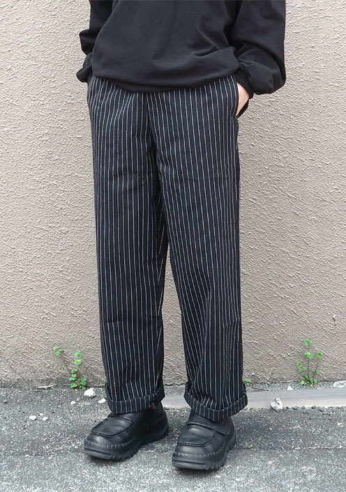 画像1:  US Poly-Cotton Cook Pants -PIN STRIPE- size XS, S, M (1)