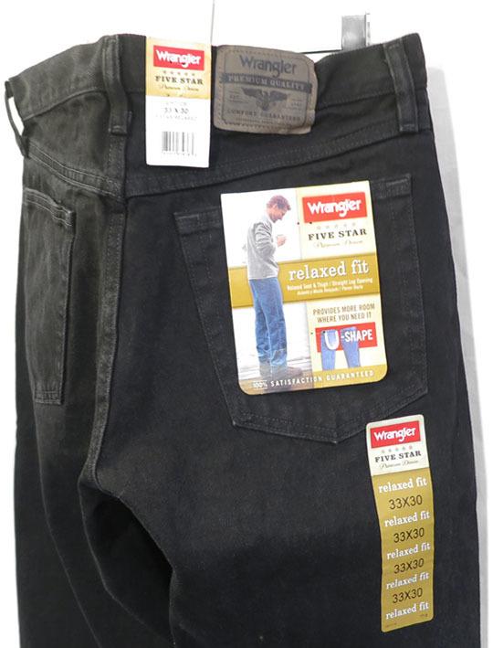 """画像1: Wrangler """"FIVE STAR"""" Relaxed Fit Denim Pants BLACK DENIM size W32, 33, 36, 38INCH (1)"""