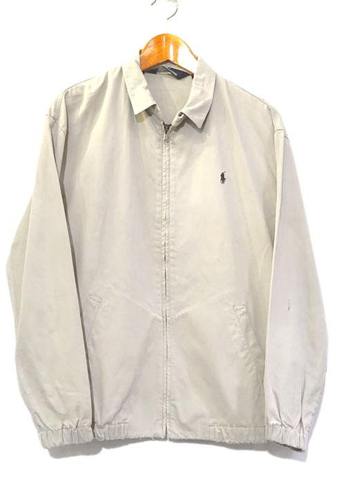 画像1: 1990's Polo by Ralph Lauren Cotton Zip up Jacket BEIGE size M (表記S) (1)