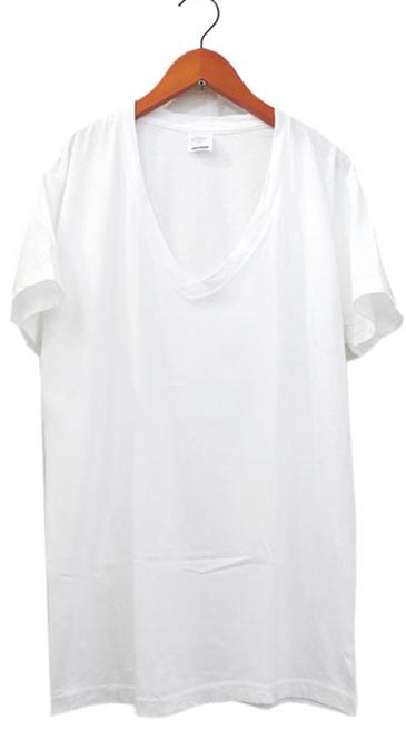 """画像1: 00's U.S.Military All Cotton V-Neck T-Shirts  """"made in U.S.A."""" Dead Stock-one wash WHITE size XS (1)"""