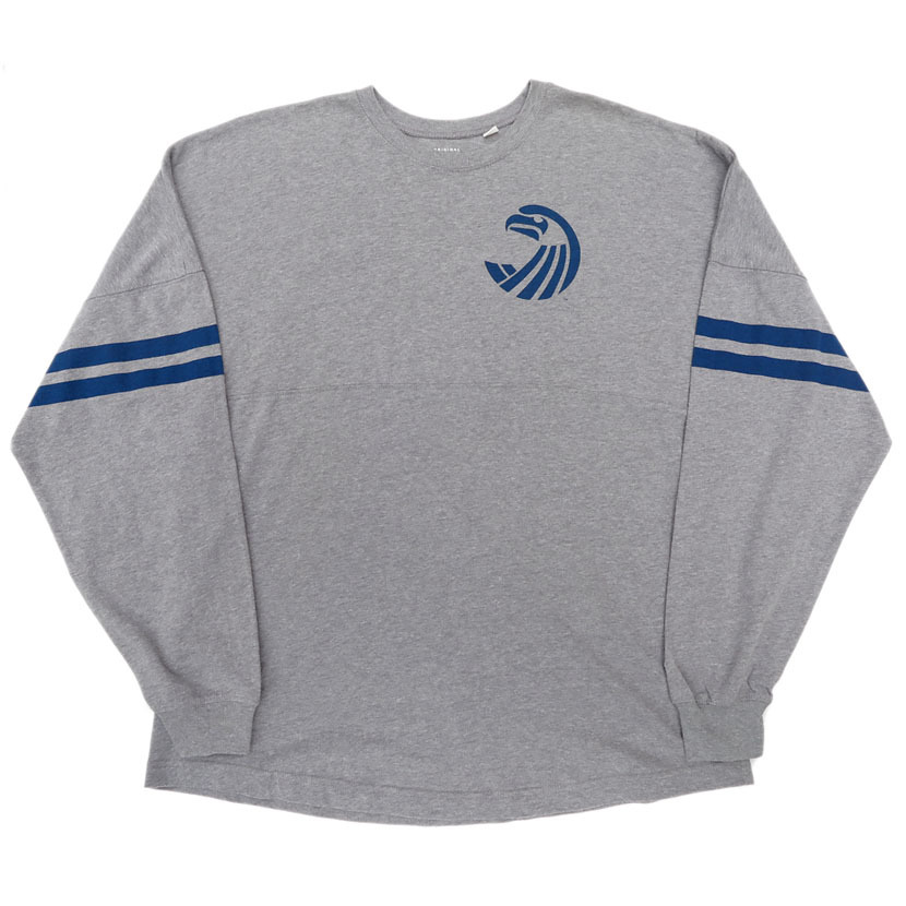 "画像1: ORIGINAL LEAGUE ""SEAHAWKS"" Print L/S T-Shirt HEATHER GREY size XL(表記L) (1)"