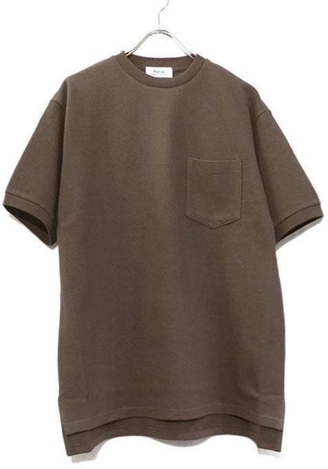 """画像1: Riprap """"Crew Neck Pocket Polo Shirt""""  color : TAUPE size MEDIUM, LARGE, X-LARGE (1)"""