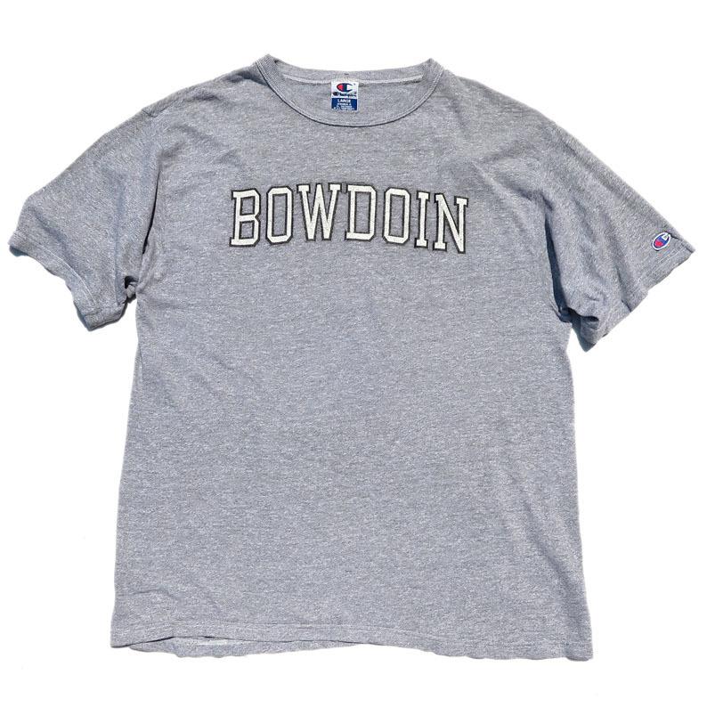 """画像1: 1990's~ Champion """"BOWDOIN"""" College Print T-Shirt HEATHER GREY size L(表記L) (1)"""