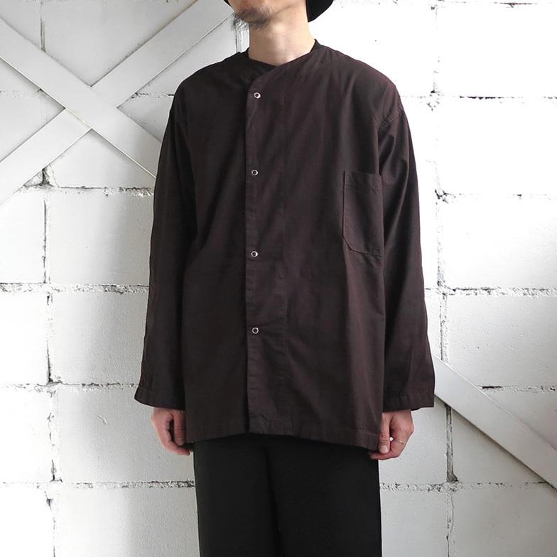 画像1: 1950's U.S. ARMY Cotton Pajama Shirt  -DEAD STOCK- BROWN over dyed size L (1)