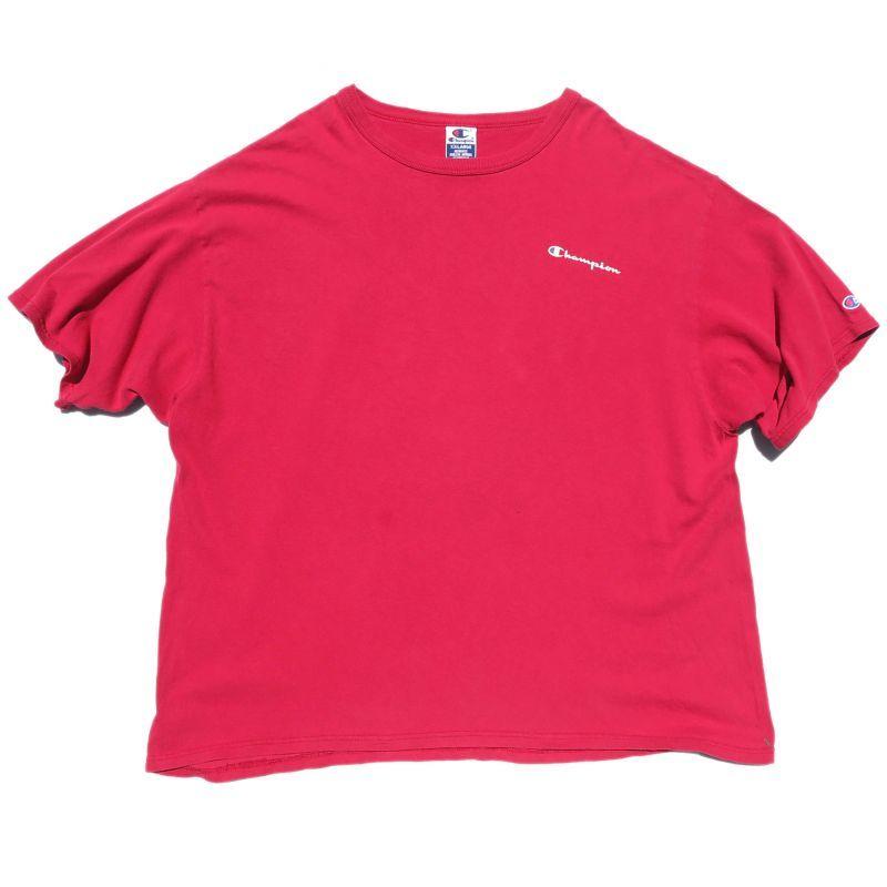 """画像1: 1990's~ """"Champion"""" Logo Print T-Shirt BERRY PINK size XXL (1)"""