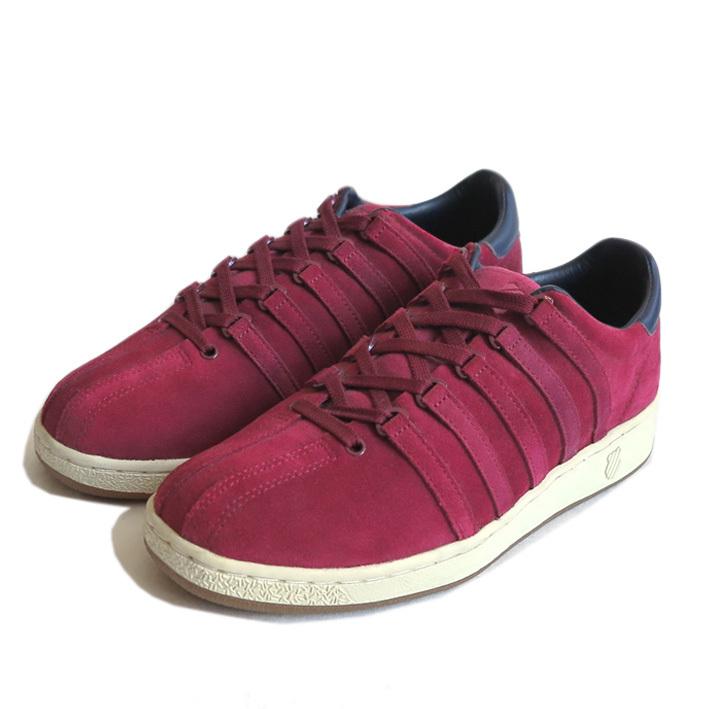 """画像1: NEW K-SWISS """"CLASSIC 96"""" Suede Sneaker BURGUNDY size US 9.5 (1)"""