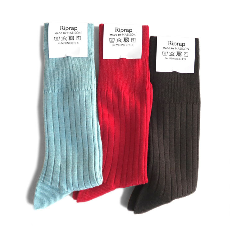 """画像1: Riprap """"Nz Merino Three Quarter Socks"""" made by HALISON size MEN'S FREE (25~27cm) (1)"""