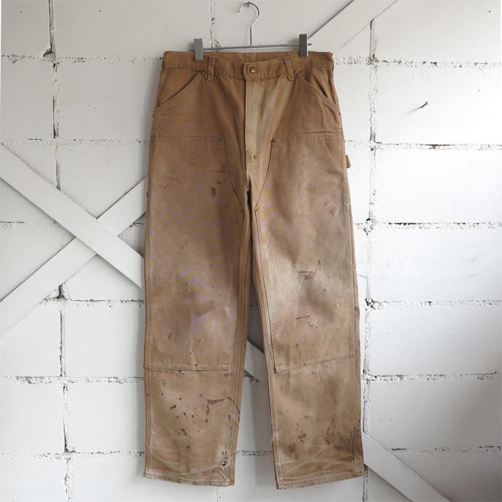 """画像1: 1970's """"Carhartt"""" Duck Canvas Double Knee Painter Pants FADE BRWON size W34INCH (1)"""