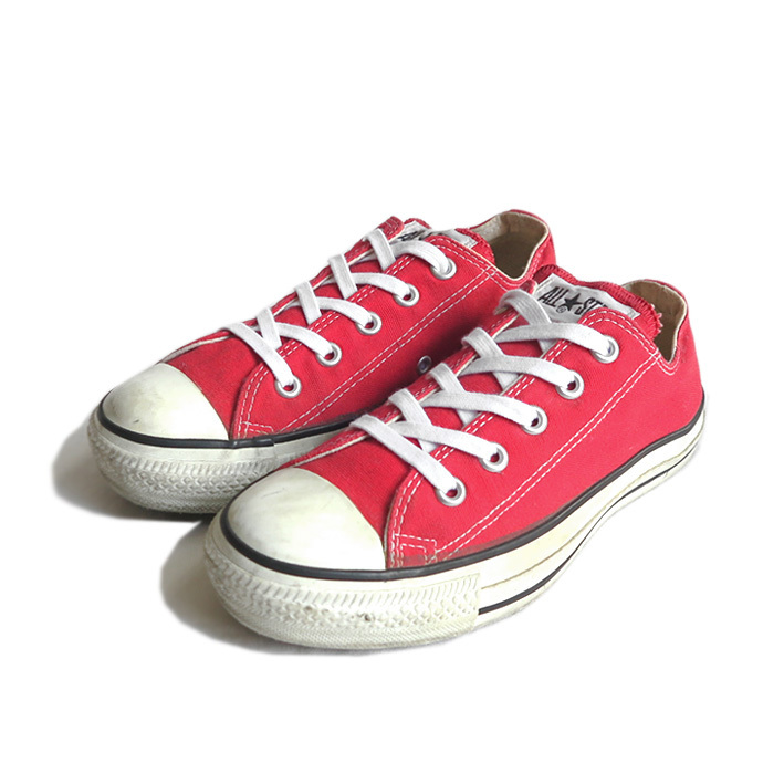 """画像1: 1990's CONVERSE """"ALL STAR"""" Canvas Sneaker -made in U.S.A.- RED size US 4 (1)"""