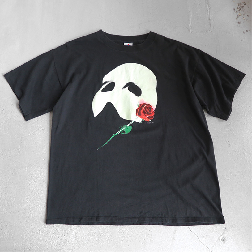 "画像1: 1980's ""The Phantom of the Opera"" Print T-Shirt BLACK size XL (1)"