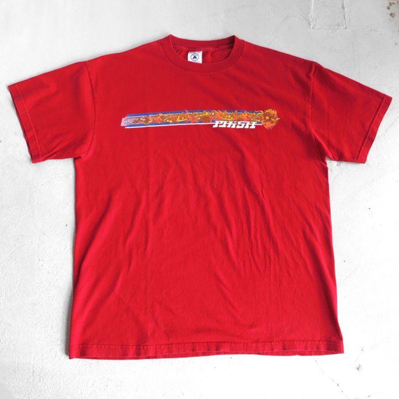"""画像1: 2000's """"PHISH"""" Tour Print T-Shirt RED size L (1)"""