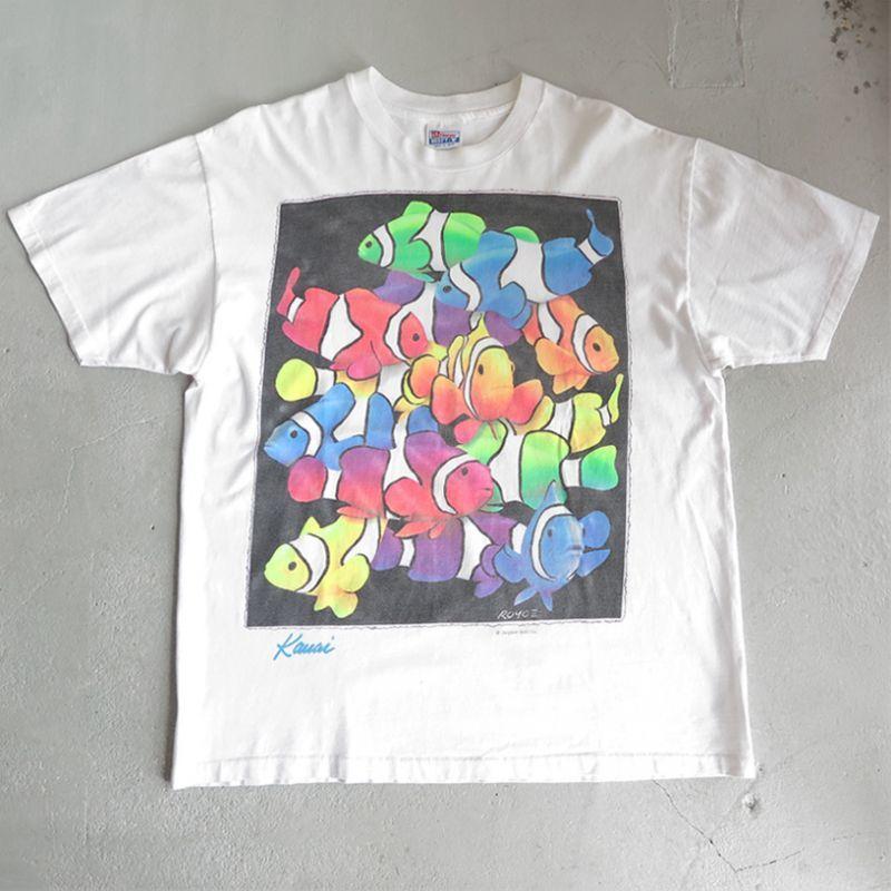 "画像1: 1990's ""Kauai"" Print T-Shirt WHITE size XL-XXL (1)"