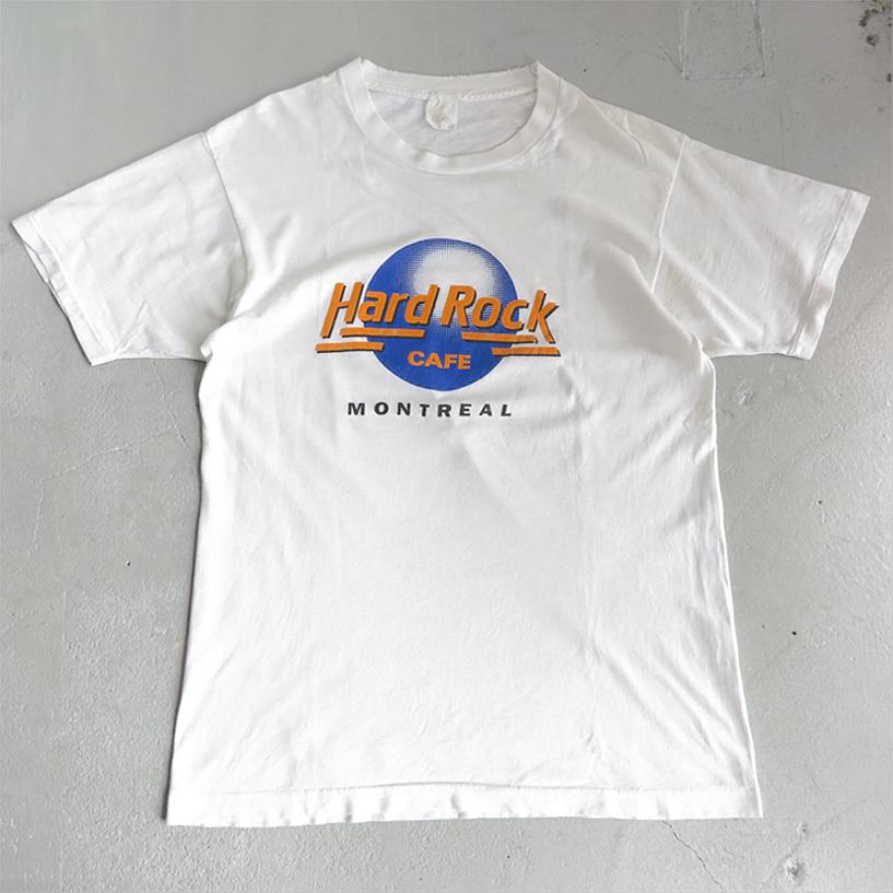 """画像1: 1980's """"Hard Rock CAFE"""" Print T-Shirt WHITE size M-L (1)"""