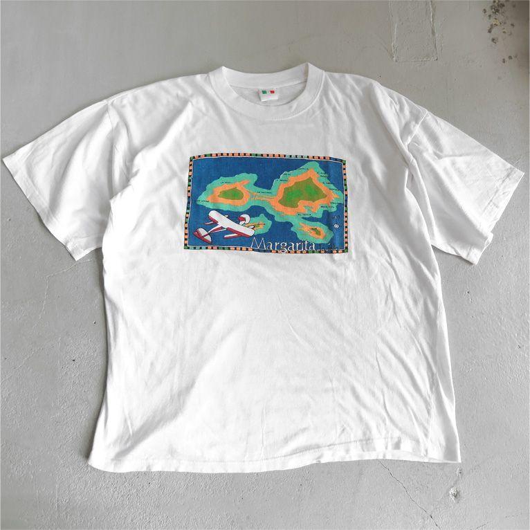 """画像1: ITALIA """"Margarita"""" Print T-Shirt WHITE size M-L (1)"""