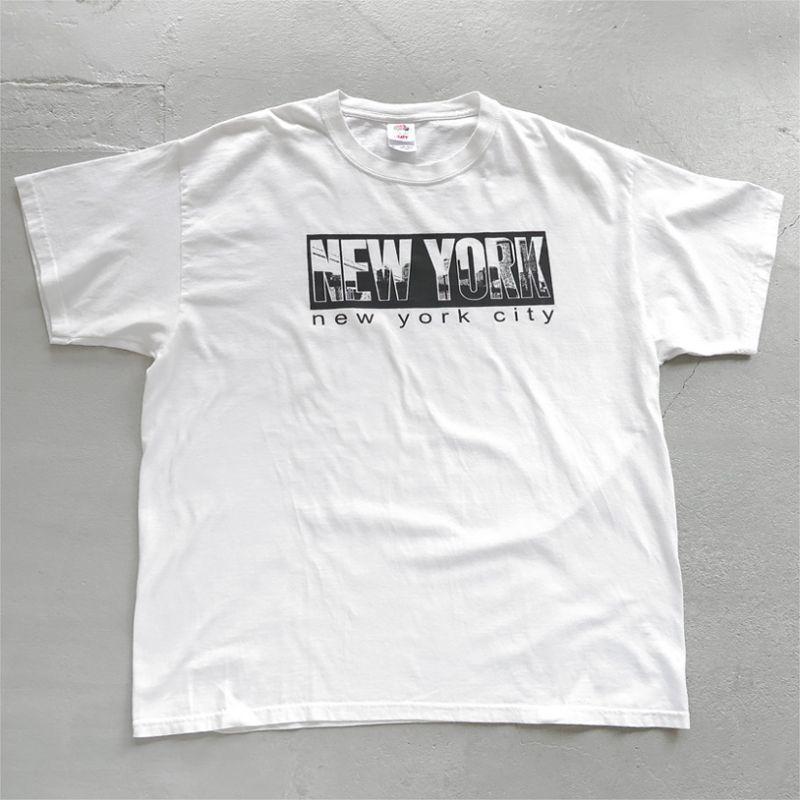 """画像1: 2000's """"NEW YORK CITY"""" Print T-Shirt WHITE size XL (1)"""