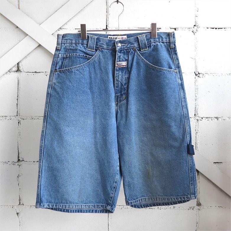"""画像1: 1990's """"PACO JEANS"""" Baggy Fit Denim Shorts BLUE DENIM size W34INCH (1)"""
