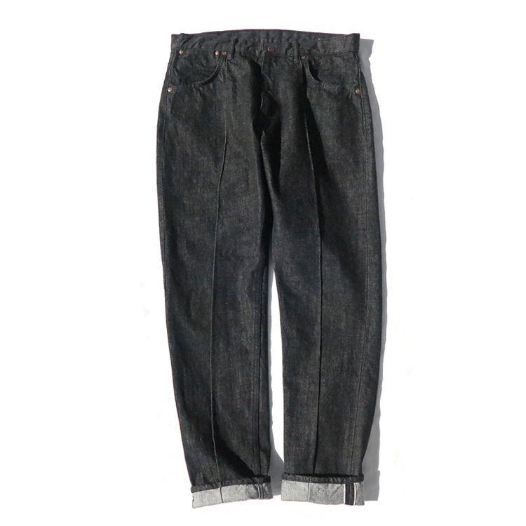 """画像1: Riprap """"Twisted Crease Jeans"""" -SLIM FIT- color : BLACK size W28~34INCH(XS~L) (1)"""