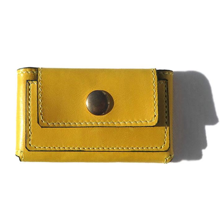 """画像1: """"JUTTA NEUMANN"""" Leather Wallet """"Scotts Purse""""  -MINIMAL SIZE- color : YELLOW / SMOKY GREEN (1)"""