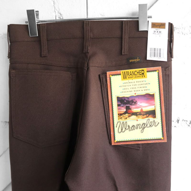 """画像1: Wrangler """"WRANCHER DRESS JEANS""""  Boot Cut Pants BROWN size W 30~40 INCH (1)"""