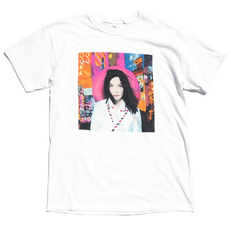"""画像1: NEW """"Bjork"""" -POST- Art Work Print T-Shirt WHITE size M, L, XL (1)"""