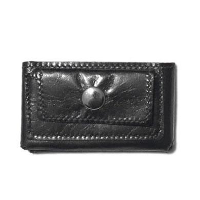 "画像1: ""JUTTA NEUMANN"" Leather Wallet ""Scotts Purse""  -MINIMAL SIZE- color : BLACK / SKY BLUE (1)"