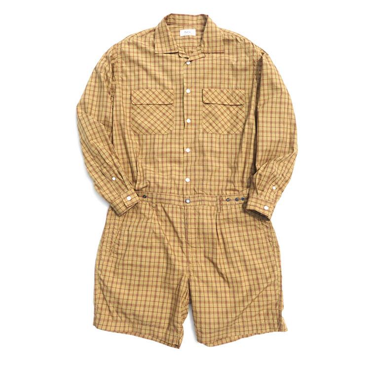 """画像1: Riprap """"Tropical Suits"""" -Plaid Broad- color BEIGE/MINT size MEDIUM, LARGE (1)"""
