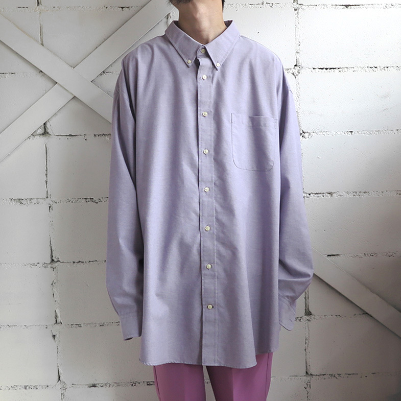 "画像1: ""ST. JOHN'S BAY"" L/S Big Shirt LAVENDER size 4XL (1)"