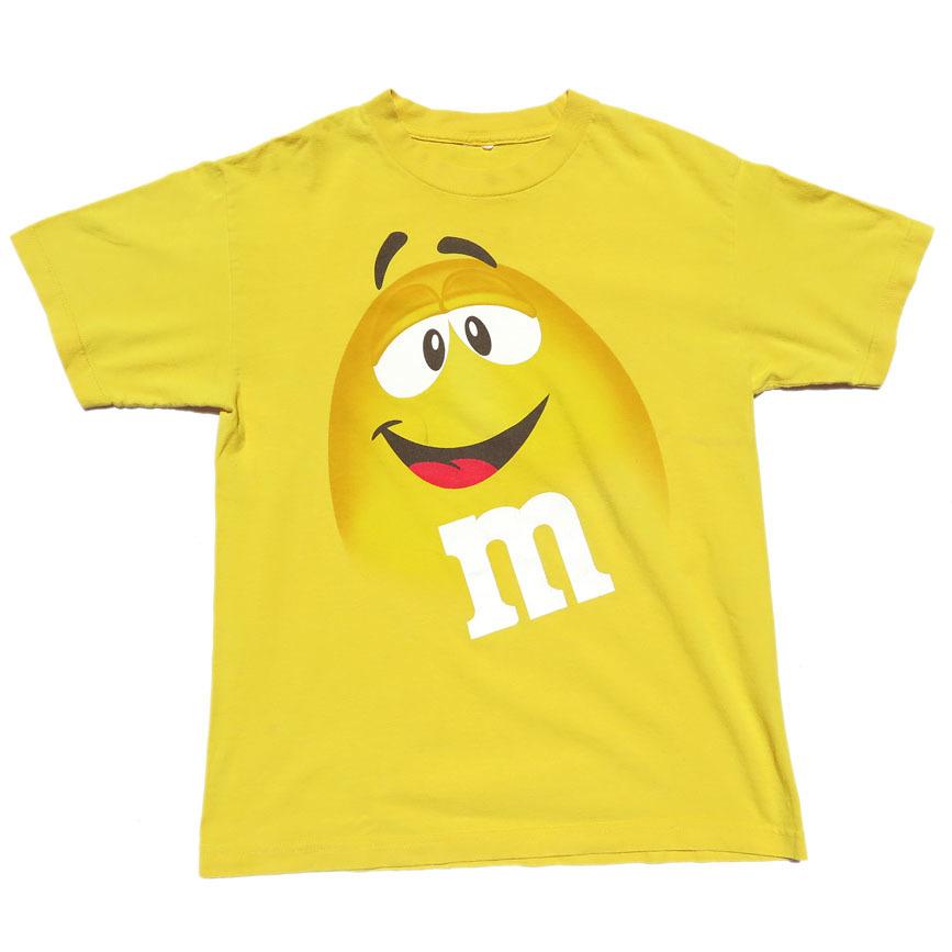 """画像1: """"M&M'S"""" Character Print T-Shirt YELLOW size M-L (1)"""