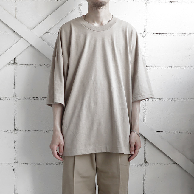 "画像1: the poem ""Short Length Tee"" BEIGE size ONE SIZE (1)"