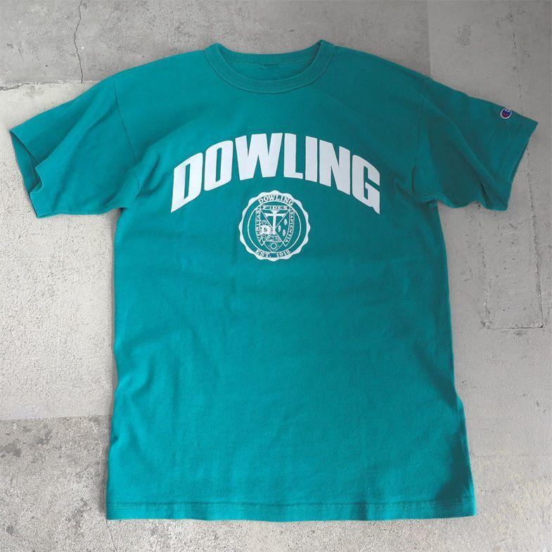 """画像1: 1980's """"Champion"""" -DOWLING- Print T-Shirt EMERALD GREEN size M-L (1)"""
