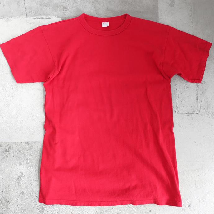 """画像1: 1980's """"Champion"""" All Cotton T-Shirt -Solid Color- RED size M-L (1)"""